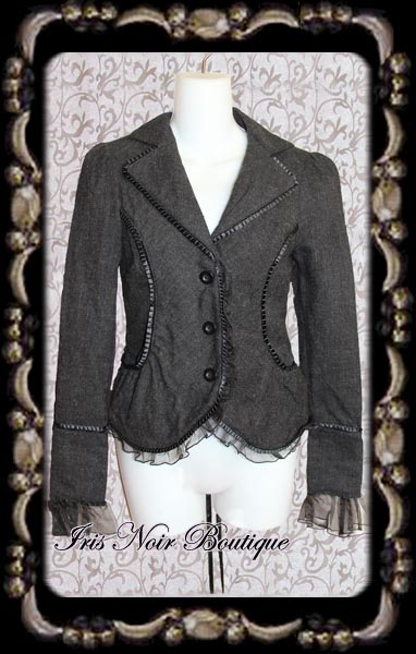 {Used} Lip Service Blacklist Gothic Victorian Lace-Up Jacket XS