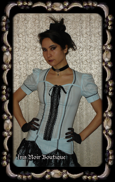 Lip Service Through the Looking Glass Steampunk Ribbon Top